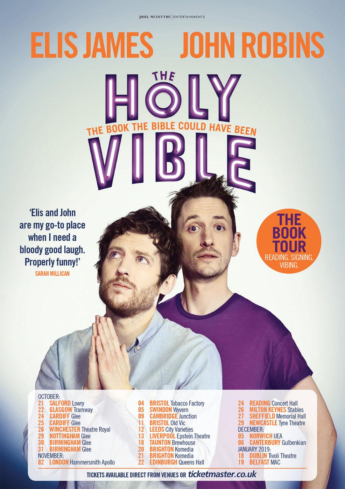 Elis James and John Robins - The Holy Vible Book tour